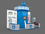 Проект стенда компании АКС на выставке Территория НДТ -2014